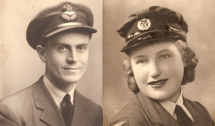 The Findlays in their RAF and WAAF uniforms during World War II