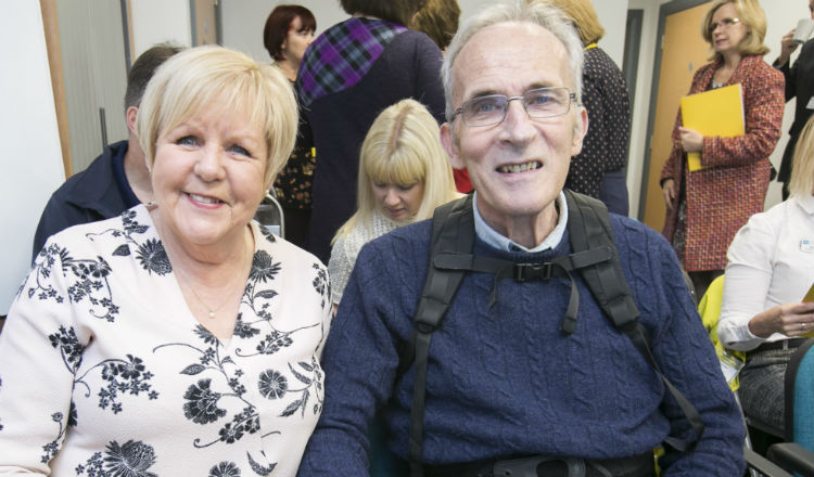 John, a Marie Curie patient, attends the conference
