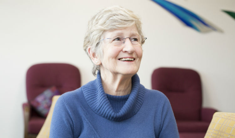 Anne, a volunteer at the hospice since 1988