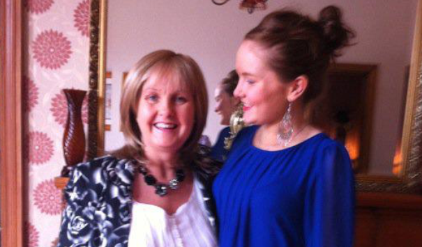 Claire, right, with her mum Maura
