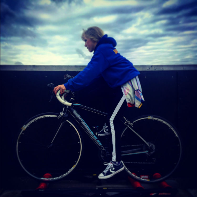 Young fundraiser Orla Cuff started cycling when she was six, and now enjoyed road riding and going to the local velodrome.
