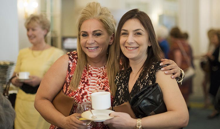 Two women at a fundraising event