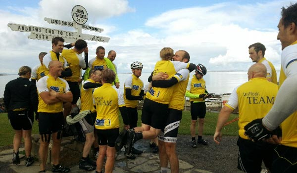 Lands End to John O'Groats Marie Curie Cycle