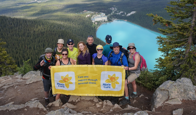Marie Curie fundraisers on the Mont Blanc trek