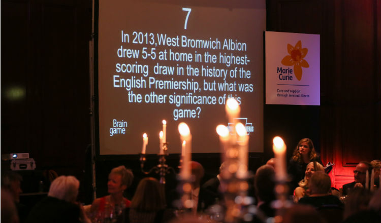A quiz question on screen at the Belfast Brain Game 2017