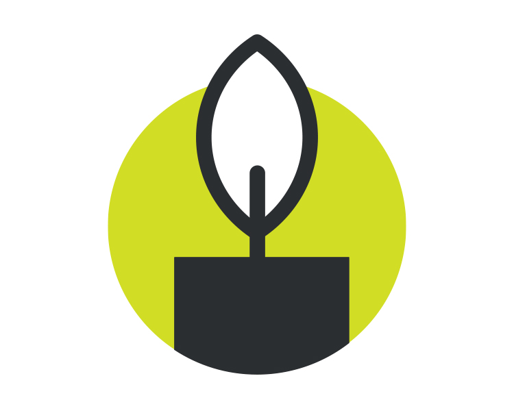 Icon of a candle
