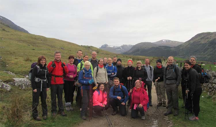EDF staff taking on the Three Peaks Challenge