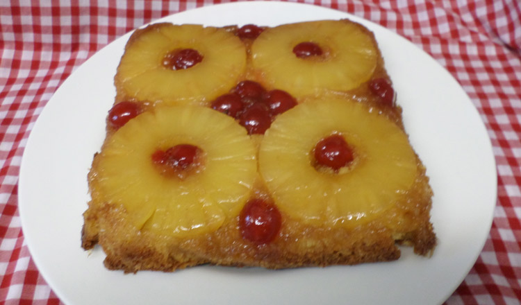 My pineapple upside down cake is a real famil