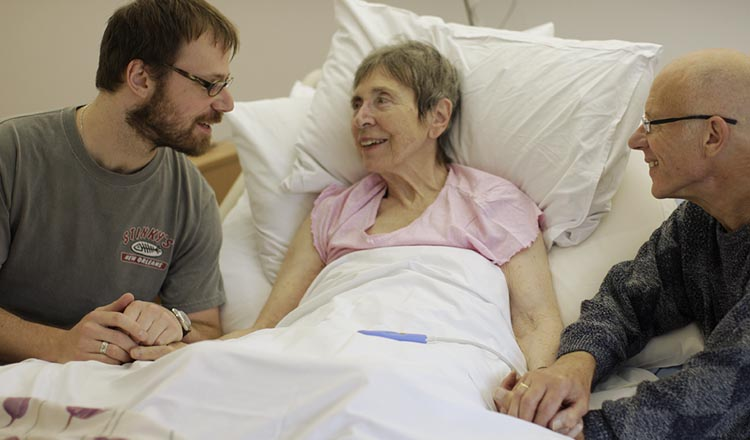 Patients at Belfast hospice